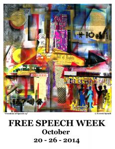 Media Institute showcases FREEDOM OF SPEECH SERIES by Everett Spruill